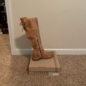 Bed Stu Manchester Tall Tan Boots